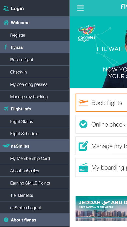 ‫flynas طيران ناس‬‎- screenshot