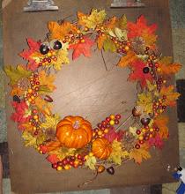 Photo: Fall Wreath October 2010 Blog Post: http://createsharerepeat.blogspot.com/2010/10/project-of-week-fall-wreath.html