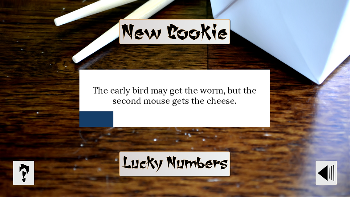 Chinatown Fortune Cookie -w/ Lucky Numbers - Free- screenshot
