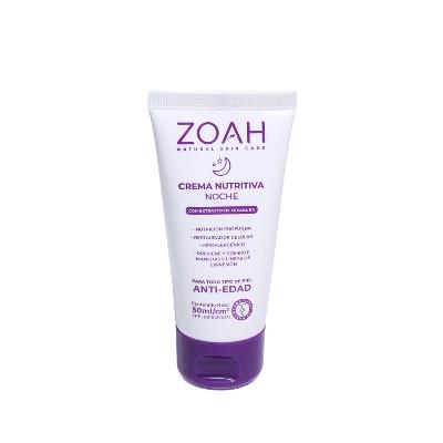 crema facial zoah nutritiva anti-edad noche 50 ml