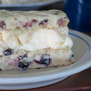 Blueberry Ice Cream Cookie Bars #SundaySupper.