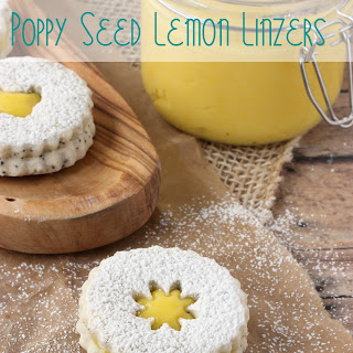 Poppy Seed Lemon Linzer Cookies