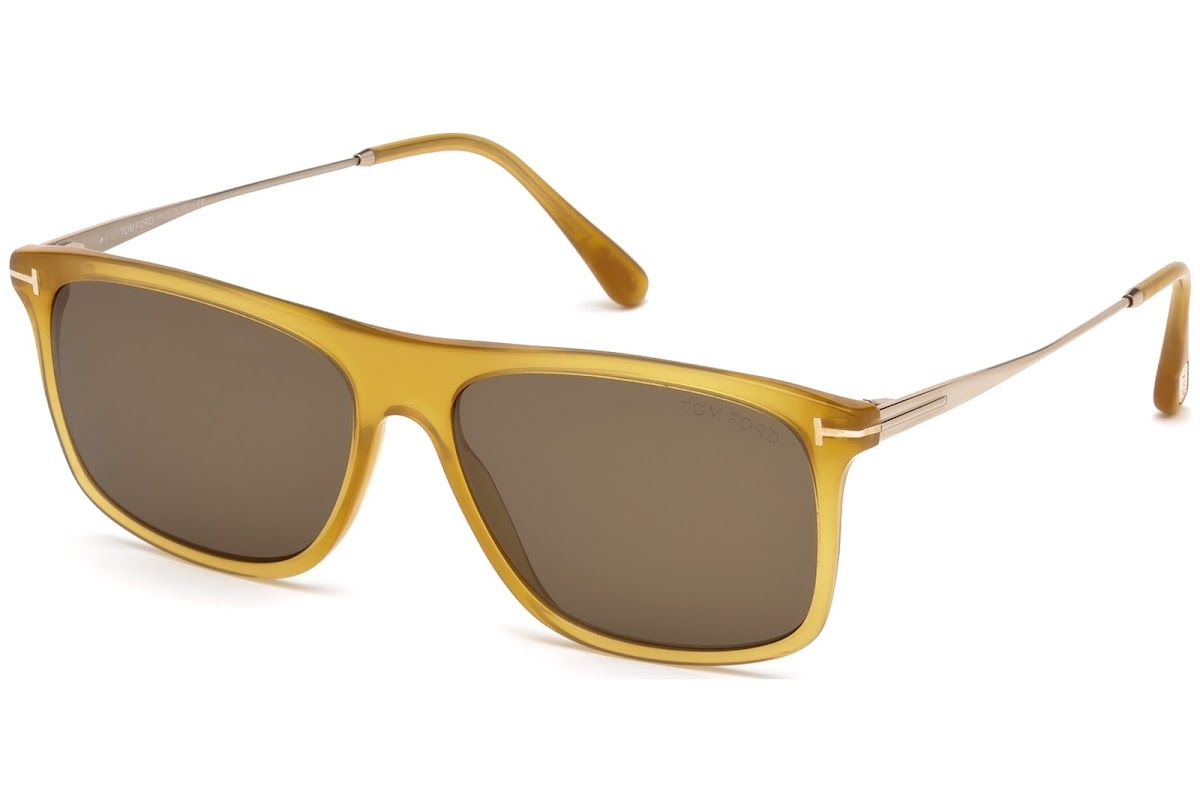 36c1c3e2a67 Sunglasses Tom Ford Max-02 FT0588 C57 39J (shiny yellow   roviex)