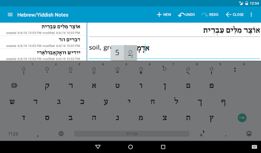 Hebrew/Yiddish Notes+Keyboard screenshot 18