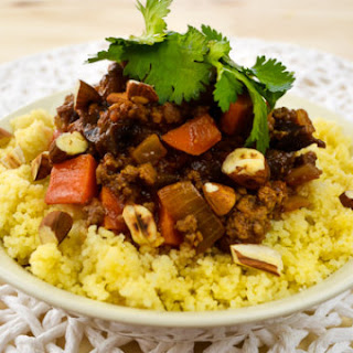 Moroccan Beef Tagine with Ras El Hanout Over Fluffy Couscous Recipe