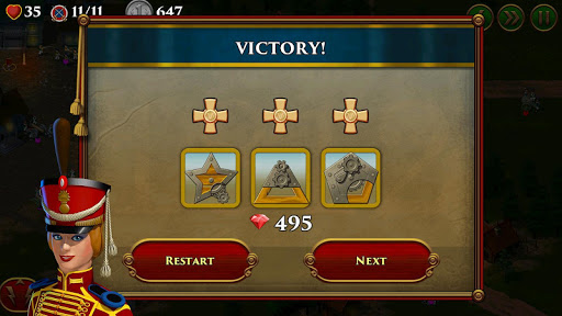Code Triche 1812. Napoleon Wars TD Tower Defense strategy game APK MOD (Astuce) screenshots 1