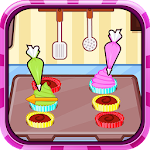 Chocolate cupcake maker Icon