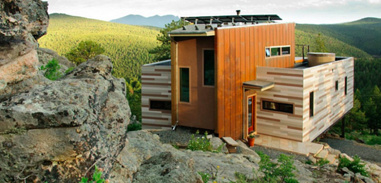 shipping container homes mountains