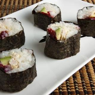 Turkey and Cranberry Sushi.