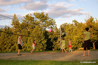Photo: Playing volleyball at Grand Isle State Park by Beth & Brad Herder
