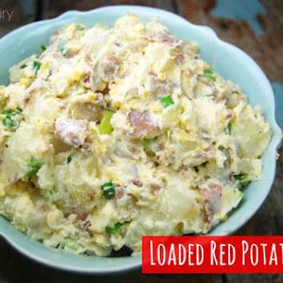 Loaded Smashed Red Potato Salad.
