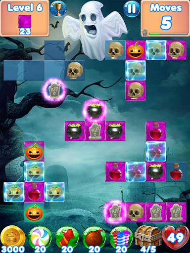 Halloween Games 2 - fun puzzle games match 3 games screenshots 8