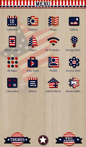 Pretty Wallpaper U.S.A. Flag Star Theme 1.0.0 Windows u7528 2