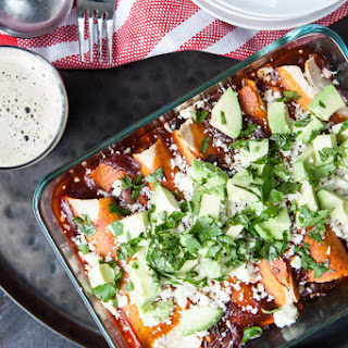 Corn and Black Bean Enchiladas with Chipotle Stout Red Sauce Recipe