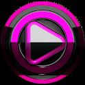 Poweramp skin Black Pink icon