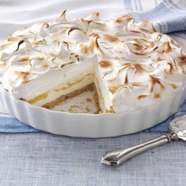 Frosty Lemon Meringue Ice Cream Pie Recipe
