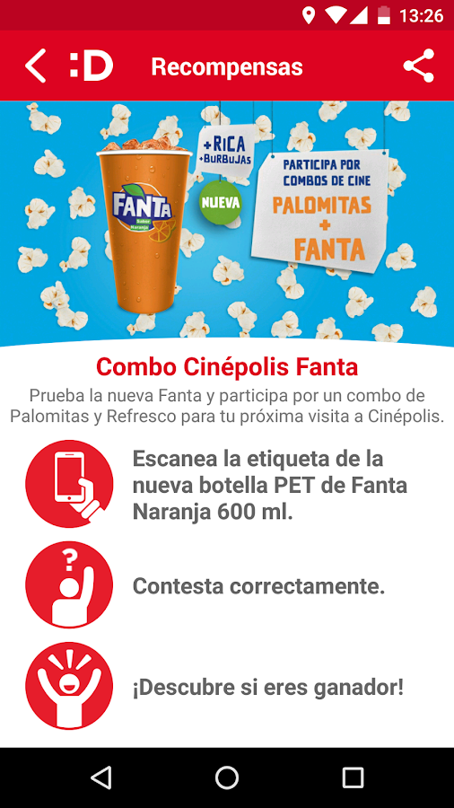 DESTAPP: captura de pantalla