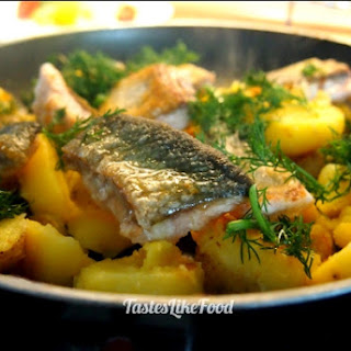 Tyrolean Arctic char with potatoes.