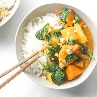 Thai Yam and Sweet Potato Yellow Curry.