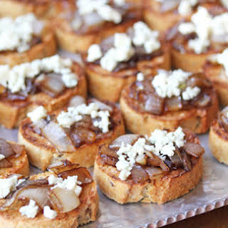 Caramelized Onion & Blue Cheese Bruschetta.