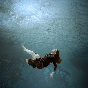 Somebody Save Me... by Roy Ervin III - People Portraits of Women ( underwater, woman, conceptual )
