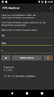 FPE-Rechner Screenshot