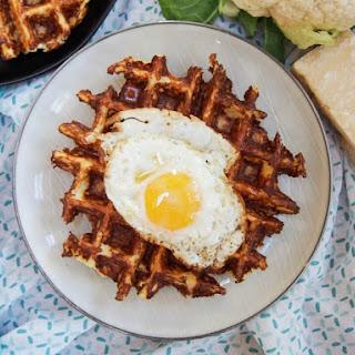 Cauliflower Waffles.