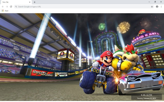 Mario Kart 8 New Tab & Wallpapers Collection