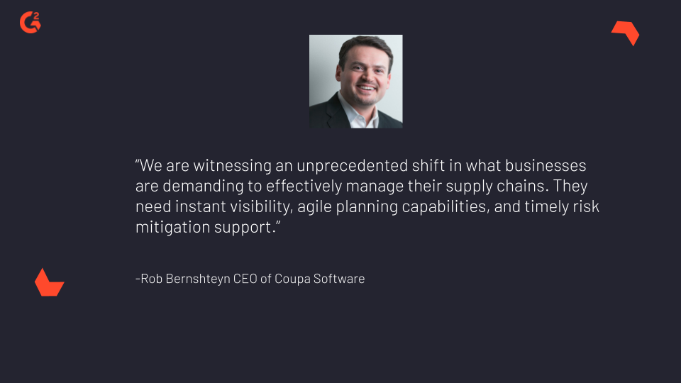 Image displaying chairman and CEO of Coupa, Rob Bernshteyn's quote