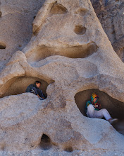 Photo: Eroded rock formations in Mojave National Preserve, California.