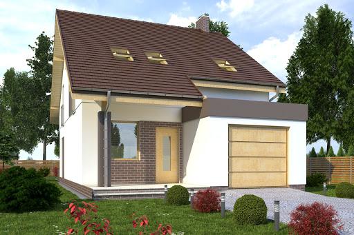 projekt Norbert II z garażem 1-st. A