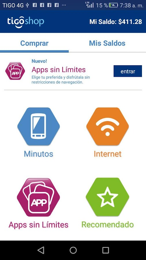 Tigo Shop Colombia- screenshot