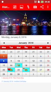 Hong Kong Calendar 2
