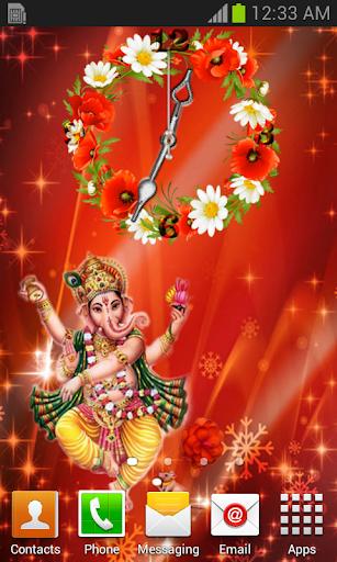 Ganesha Clock Live Wallpaper