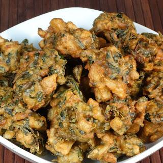 Spinach Potato (Aloo Palak) Pakora