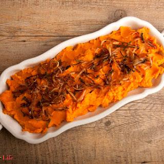 Mashed Yams with Crispy Maple Shallots