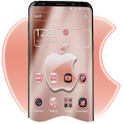 Rose Gold Shine Crystal Apple Theme icon