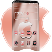 Rose Gold Shine Crystal Apple Theme