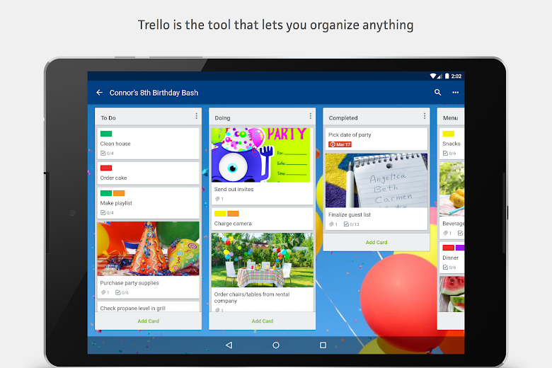 Screenshot 5 for Trello's Android app'