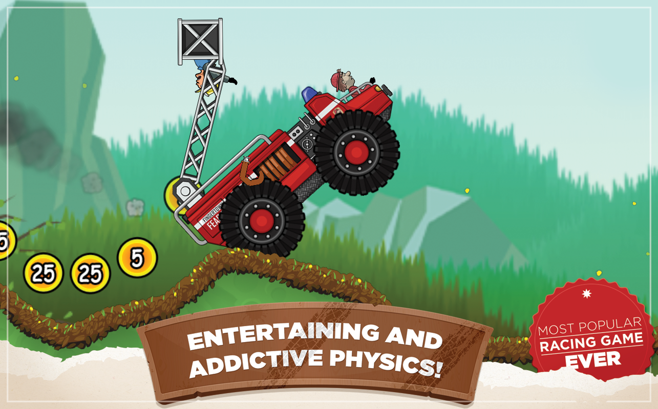 Screenshots of Hill Climb Racing for iPhone