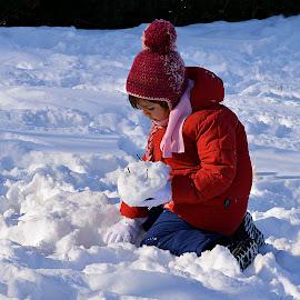 Snow forms... by Doru Sava - Babies & Children Children Candids ( child, girl )