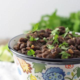 Seasoned Black Beans Side Dish.