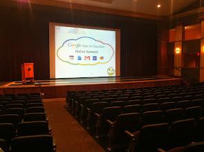 Photo: ME Summit Setup