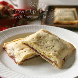 "Parma Ham, Brie, & Jam ""Pop Tarts""."