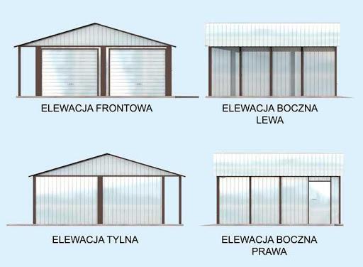 GB23 Garaż Blaszany - Elewacje