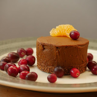 Healthy Chocolate-Orange Mousse Cake (from pumpkin!).