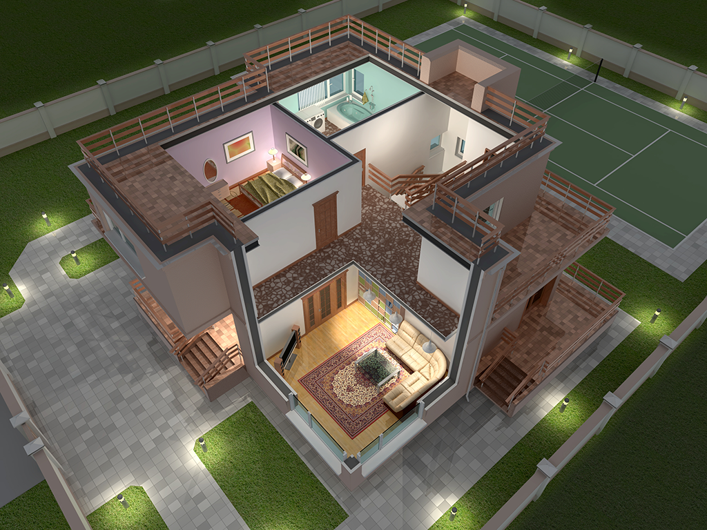 Indian 3d Home Design Top View