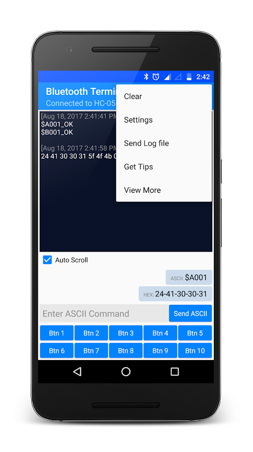 Bluetooth Terminal HC-05- screenshot