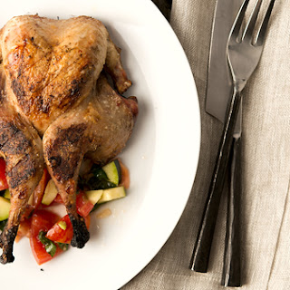 Grilled Partridges with Tomato Salad