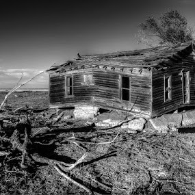 The Past by Japie Scholtz - Buildings & Architecture Homes ( black and white, b and w, landscape, b&w, monotone, mono-tone,  )